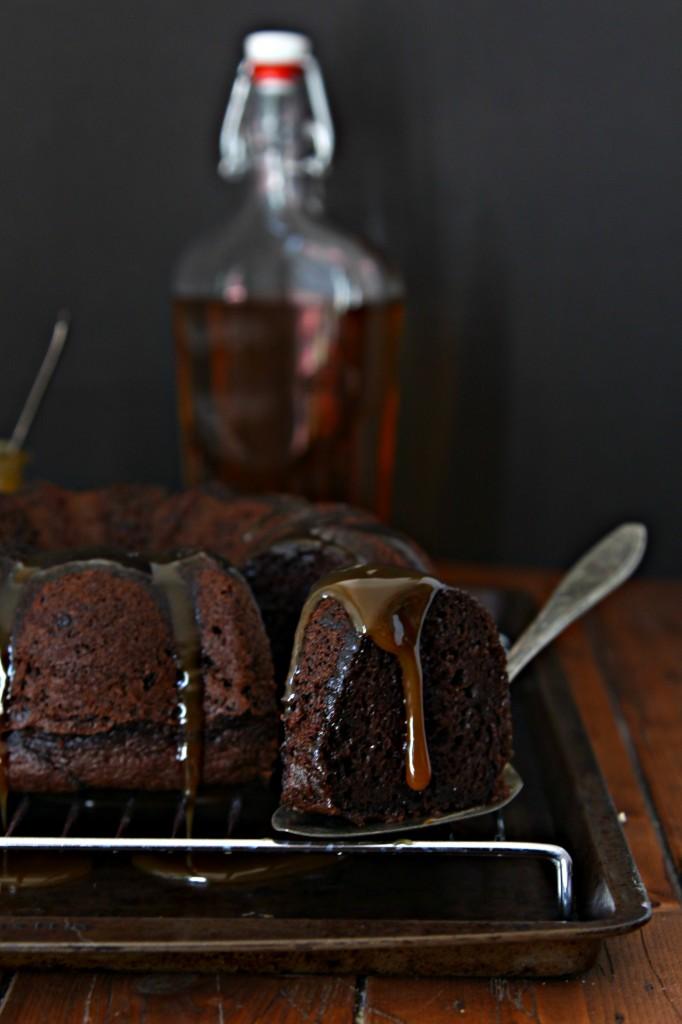Chocolate Bourbon Bundt Cake | bell' alimento