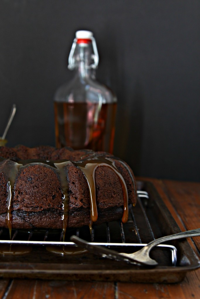 Chocolate Bourbon Bundt Cake