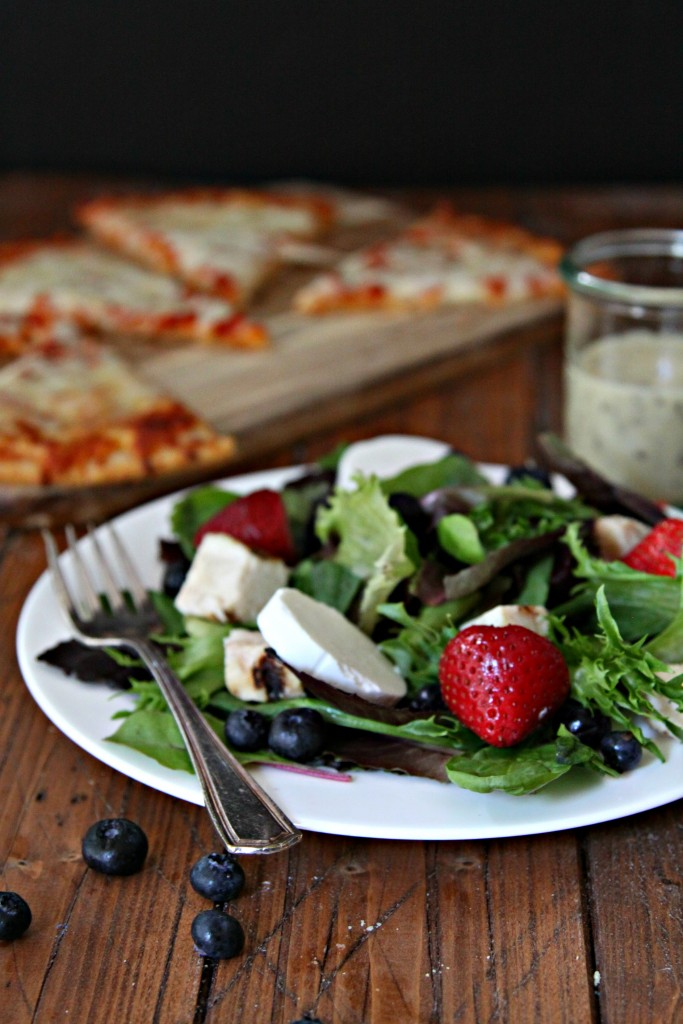 Freschetta Gluten Free Pizza and Side Salad