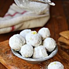 No Bake Lemon Drop Cookie Balls