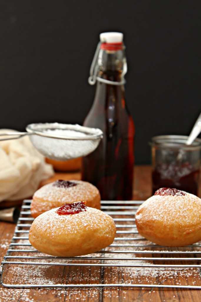 Bourbon Cherry Filled Doughnuts