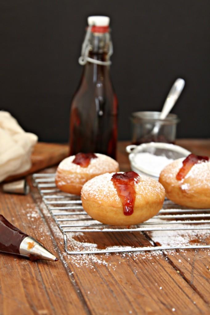 Bourbon Cherry Filled Doughnuts