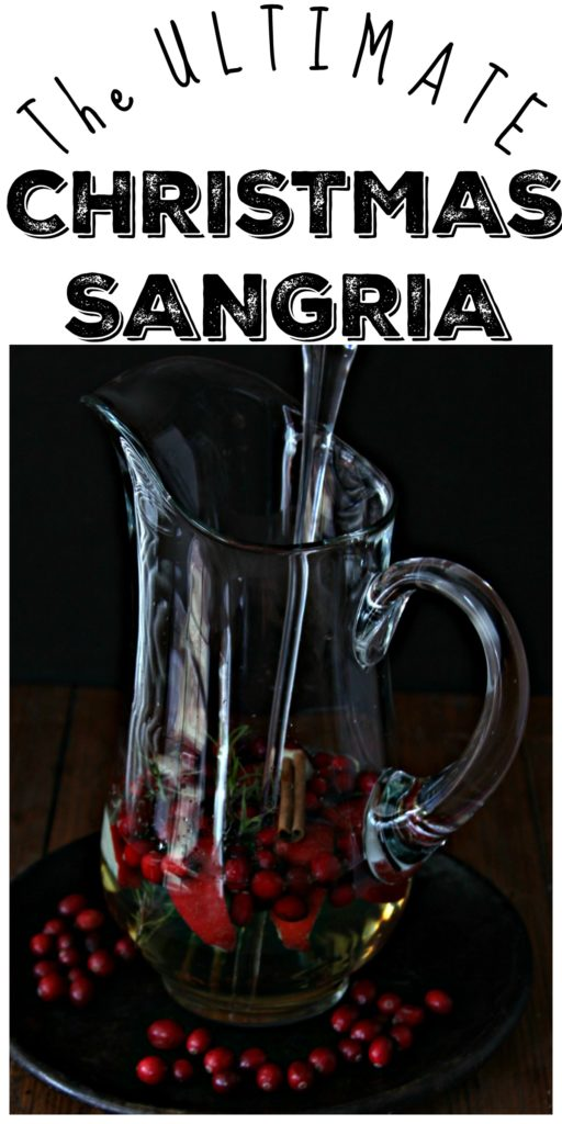 Mix up a pitcher of the ultimate Christmas Sangria #christmas #drink #holidaydrink #holidaysangria #christmassangria
