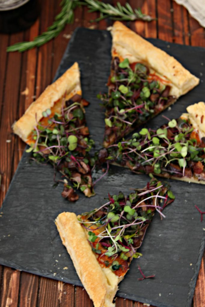 Mushroom and Bacon Tart