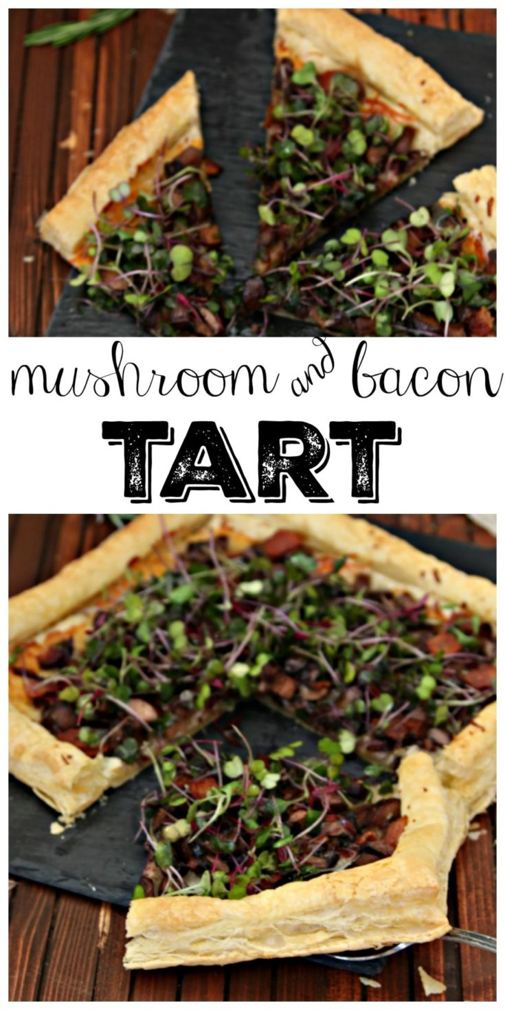 Mushroom and Bacon Tart #tart #appetizer #recipes