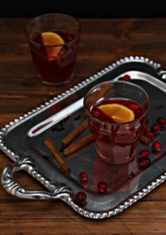 Slow Cooker Mulled Cranberry Punch