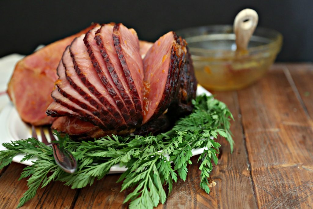 Apricot Bourbon Glazed Ham
