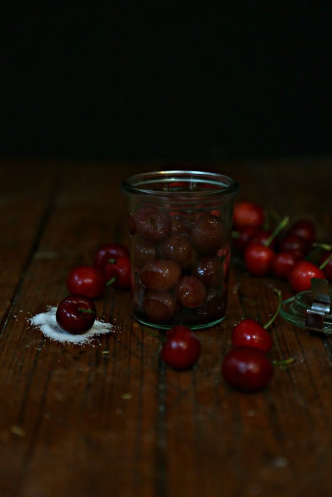 Bourbon Roasted Cherries