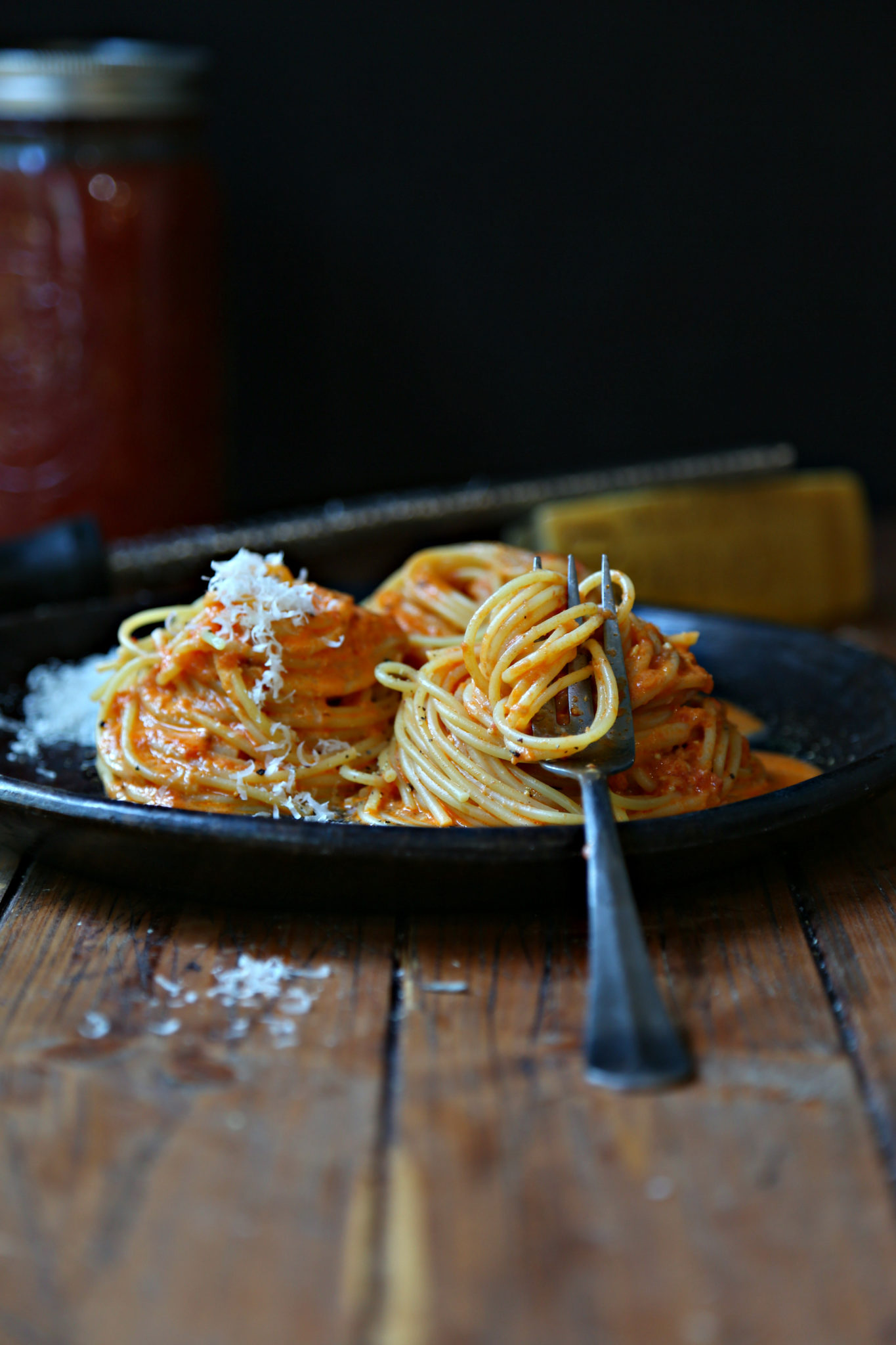 Spaghetti with Vodka Sauce