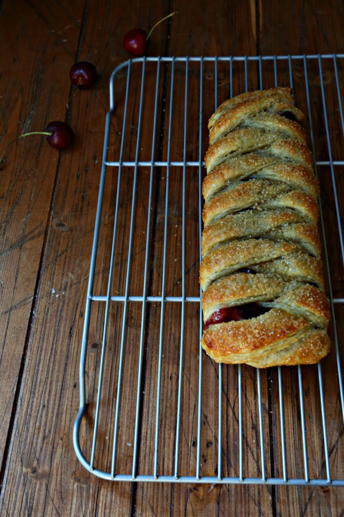 Braided Cherry and Chocolate Filled Pastry