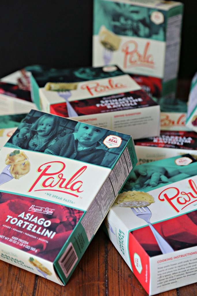 Multiple boxes of Parla Pastas.