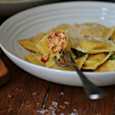 Lobster Ravioli in Browned Butter Sauce