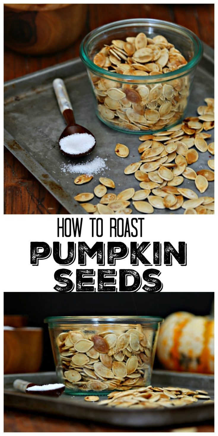 Carving pumpkins? Don't throw away the seeds. Roast them for a healthy snack! #vegetarian #glutenfree #snacks #pumpkinseeds #healthy