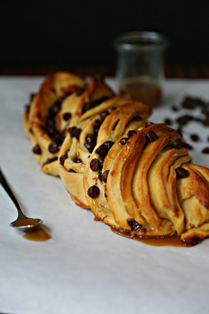 Salted Caramel Chocolate Brioche Twist