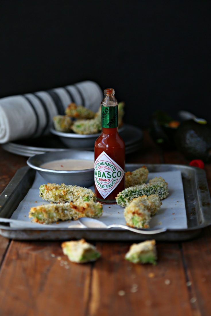 Crispy Baked Avocado Fries with Spicy Dipping Sauce