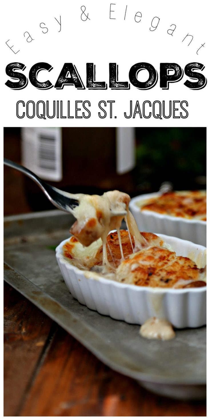 An easy and elegant dish -Scallops Coquilles St. Jacques #scallops #seafood #French #dinner #dinnerrecipes