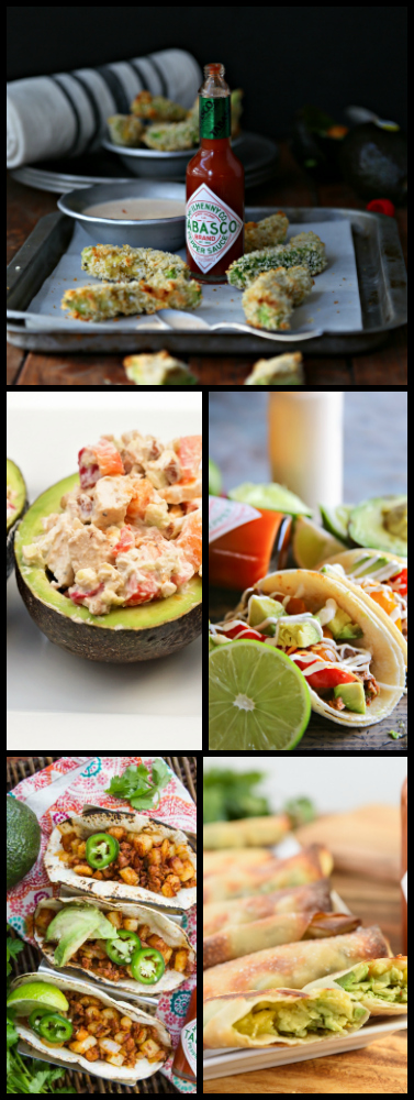 5 delicious recipes featuring Avocados for your upcoming party or game day #avocados #appetizer #gameday #fingerfoods