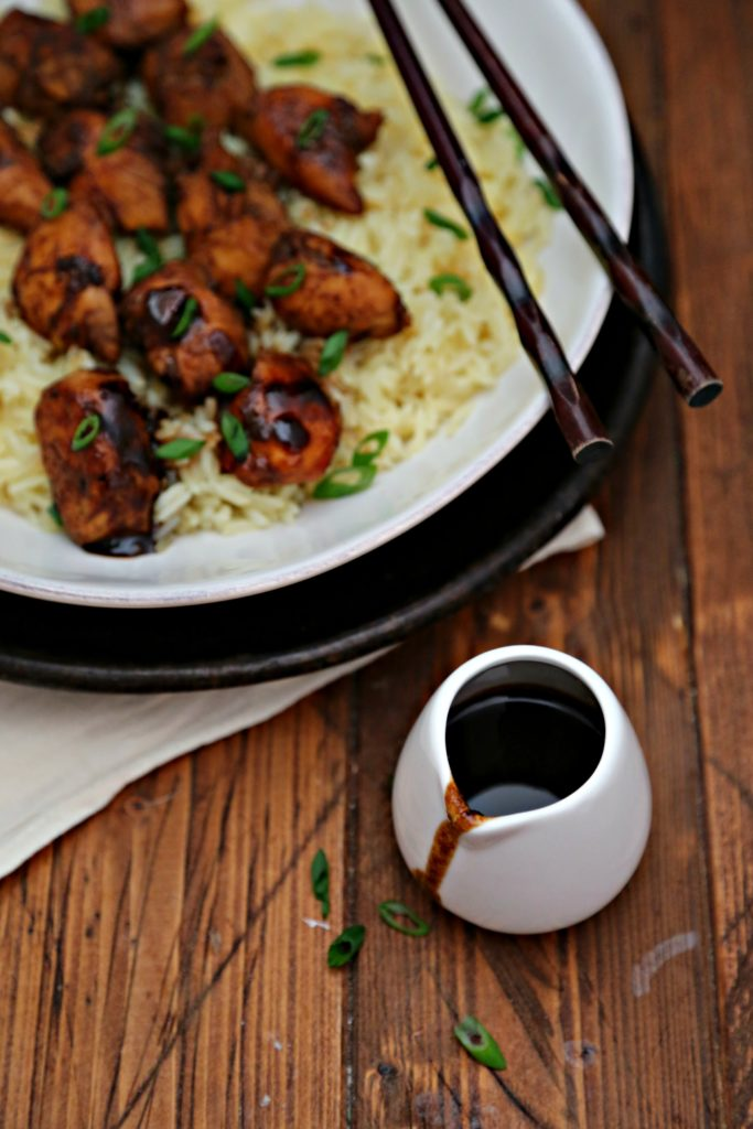 How to Make Bourbon Chicken over Sticky Rice #chicken #bourbon #bourbonchicken #stickyrice
