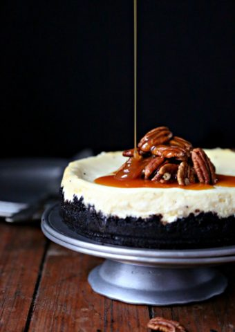 Instant Pot Turtle Cheesecake #cheesecake #instantpot #instantpotrecipes #desserts #turtlecheesecake