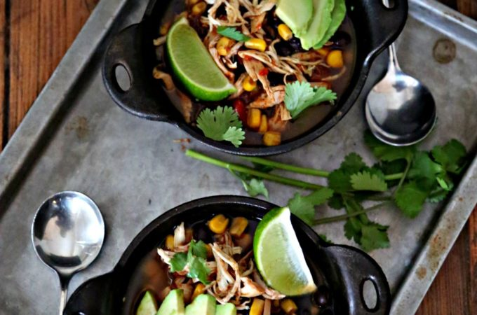 Slow Cooker Southwest Chicken Chili #slowcooker #chicken #chili #chickenchili