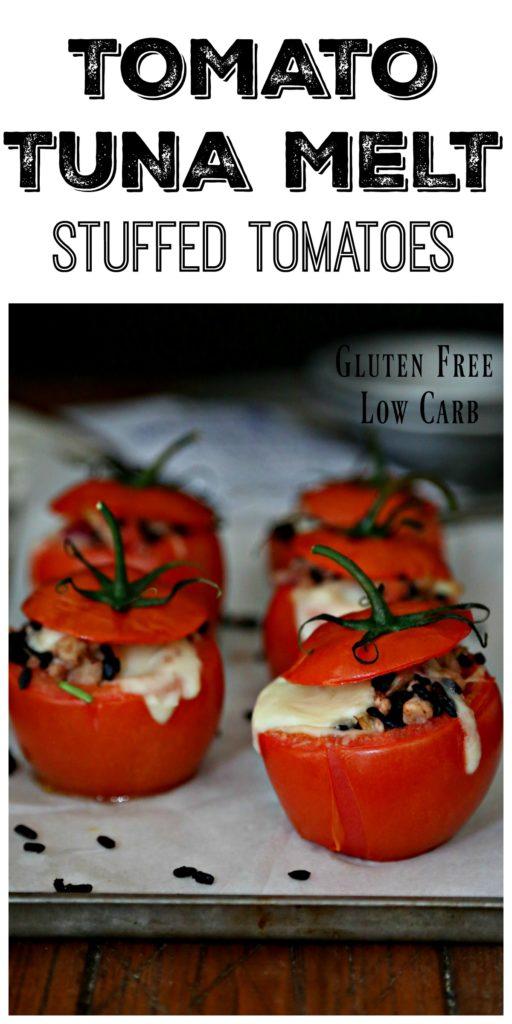 Tomato Tuna Melt #tuna #tunamelt #glutenfree #lowcarb #tomatoes