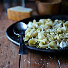 Orecchiette Pasta with Peas and Parmesan