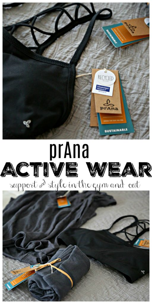 prAna activewear laying on bed