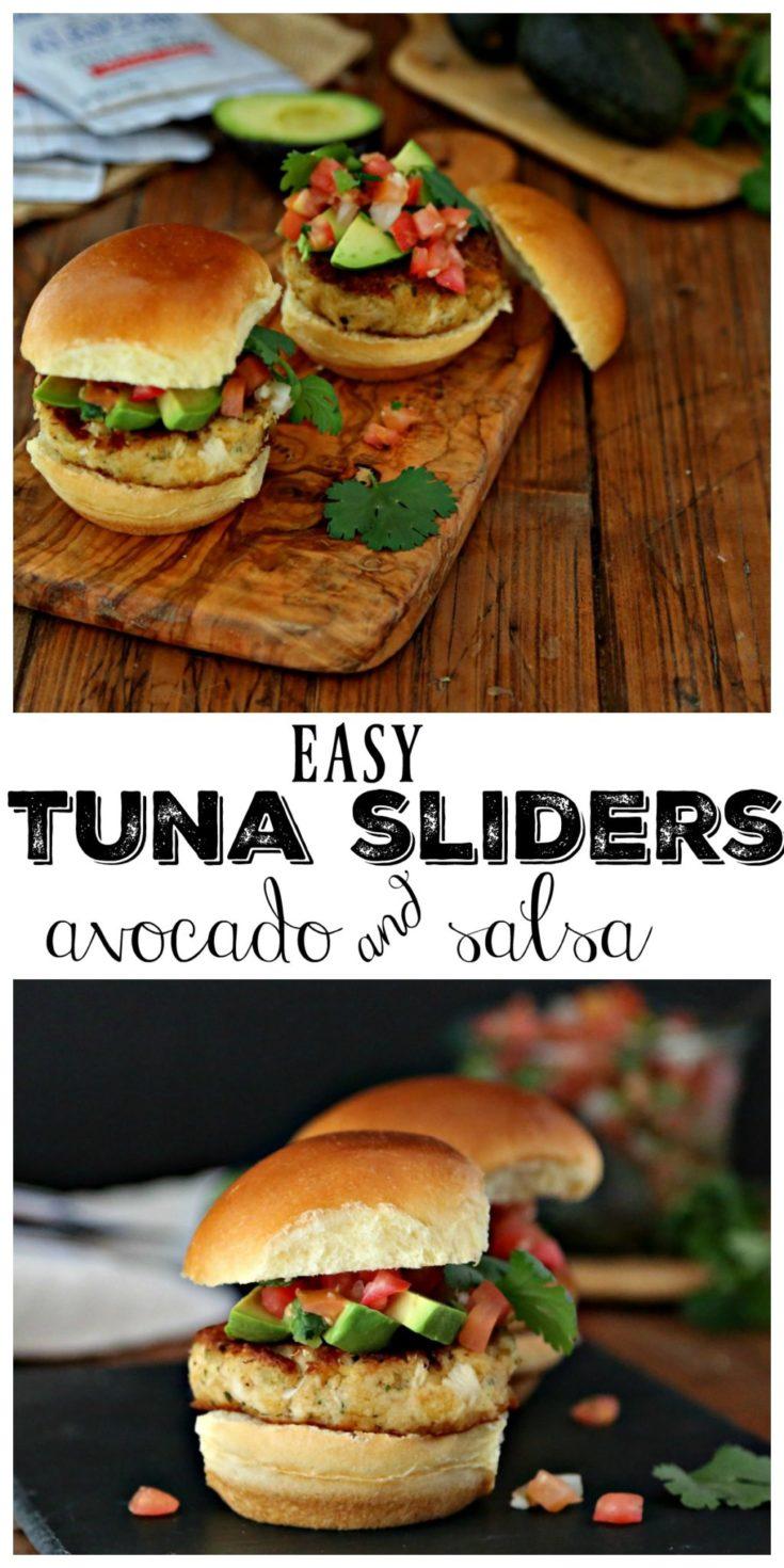 Tuna Sliders with Avocado and Pico de Gallo #sliders #tuna #recipes #easyrecipes #seafood