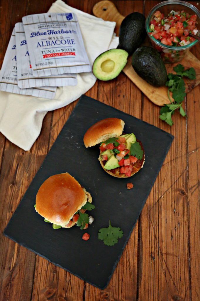 Tuna Sliders with Avocado and Pico de Gallo