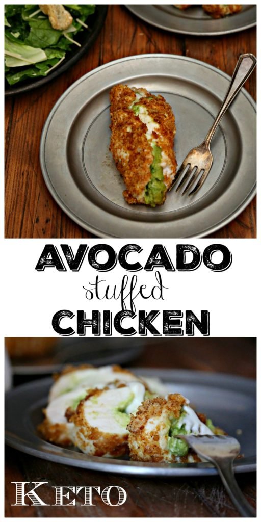 Keto Avocado Stuffed Chicken Collage
