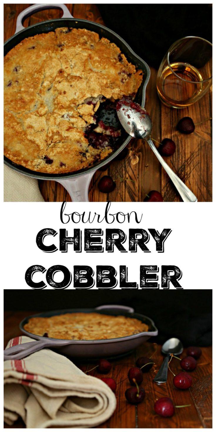 Bourobn Cherry Cobbler. An easy dessert. #dessert #easyrecipe #cherry