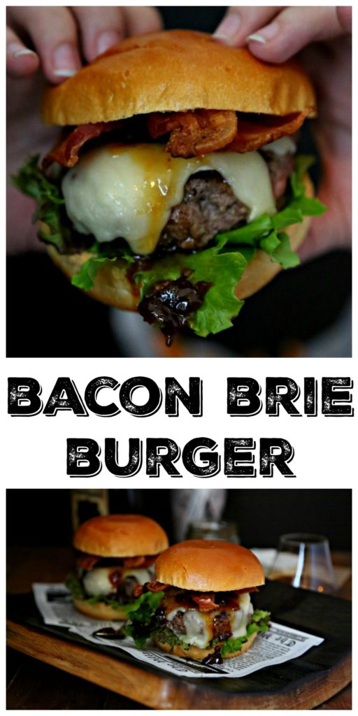 Bacon Brie Brioche Burger