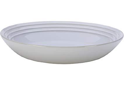 """Le Creuset Stoneware 9 3/4"""" Pasta Bowl, White"""