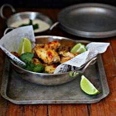 Glazed Salsa Verde Chicken Wings