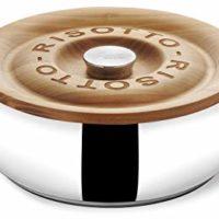 Lagostina Q5510174 La Risottiera Stainless Steel Risotto Pan Cookware, 4-Quart, Silver