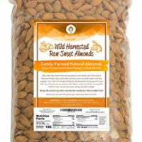 Raw Almonds Sweet Wild Harvested - Bulk - Comparable To Organic, Steam Pasteurized, Prebiotic, Natural Almonds, Family Farmed Since 1875 - Raw 3lb Bag From Ellie's Best