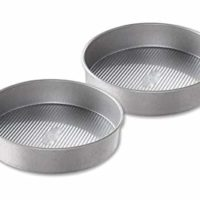 USA Pan Bakeware Round Cake Pan, 9 inch, Nonstick & Quick Release Coating, Made in the USA from Aluminized Steel, Set of 2