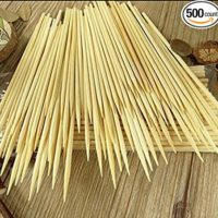 Kabob skewers Pack of 500 8 inch Bamboo Sticks Made from 100% Natural Bamboo - shish Kabob skewers - (500)