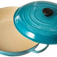 Le Creuset LS2532-3217 Enameled Cast Iron Signature Braiser, 5-Quart, Caribbean