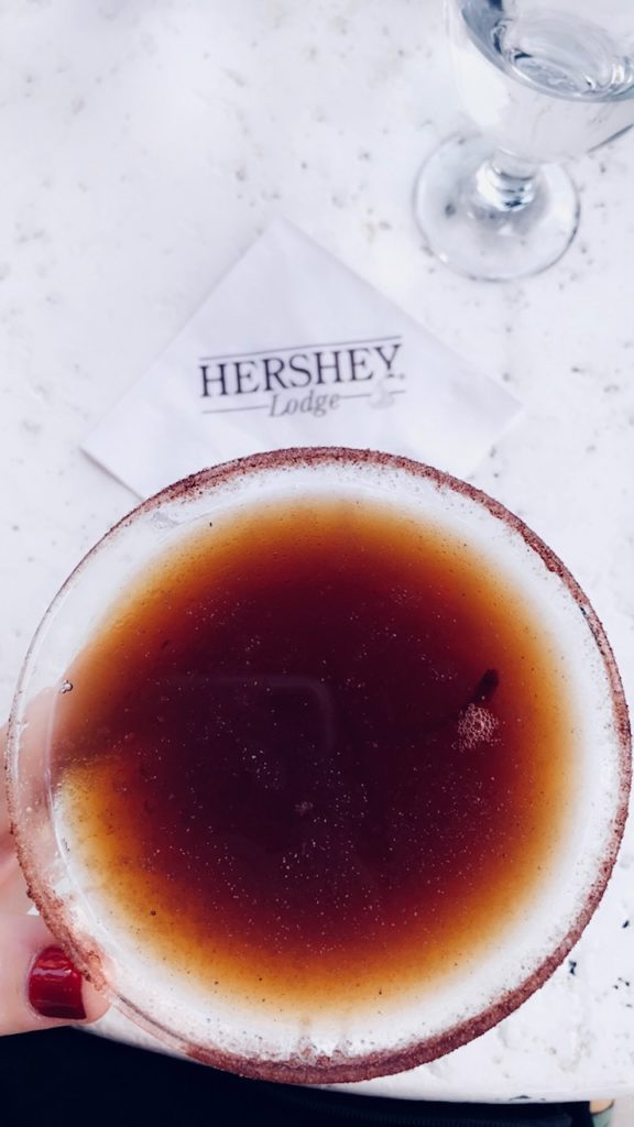 glass of chocolate manhattan