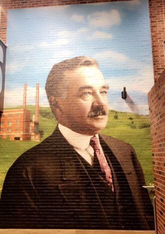 mural of Milton Hershey