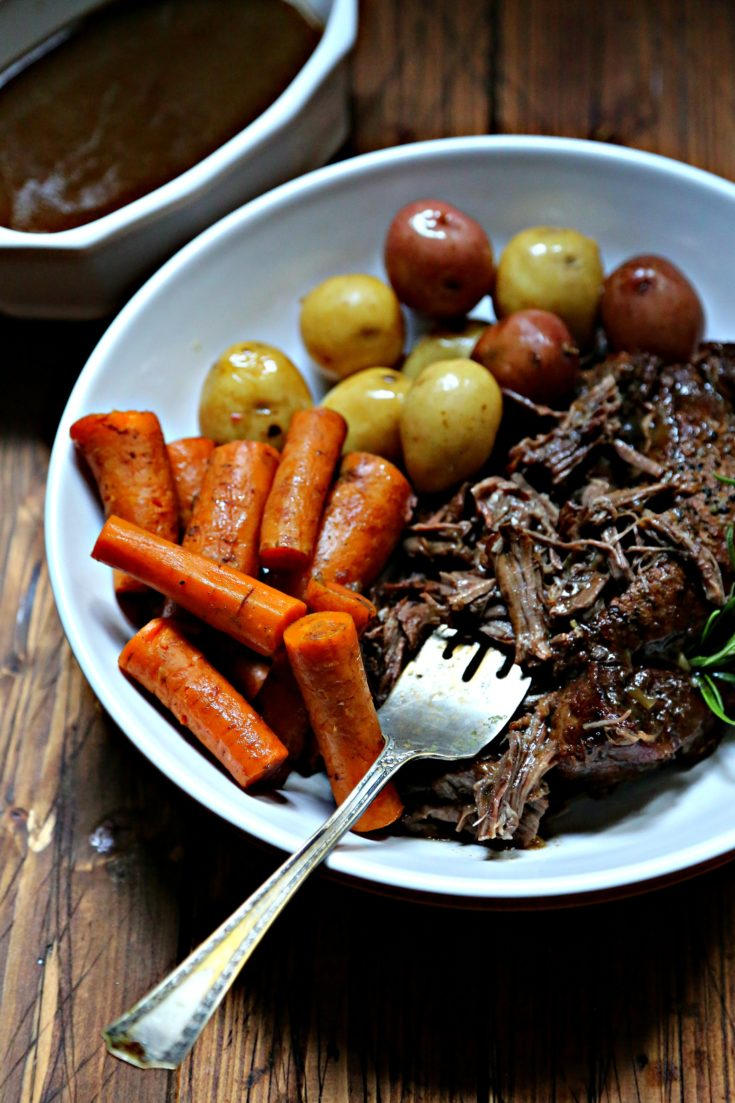 Instant Pot Pot Roast with Balsamic Gravy