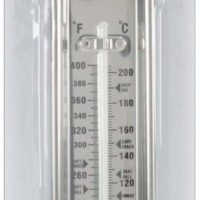"Wilton Candy Thermometer, Ideal for Precisely Measuring Temperature of Hard Candy, Nougat, or Fudge Mixtures, Clamps to Side of Pan for Accurate Readings, Metal (14.7"" Long)"