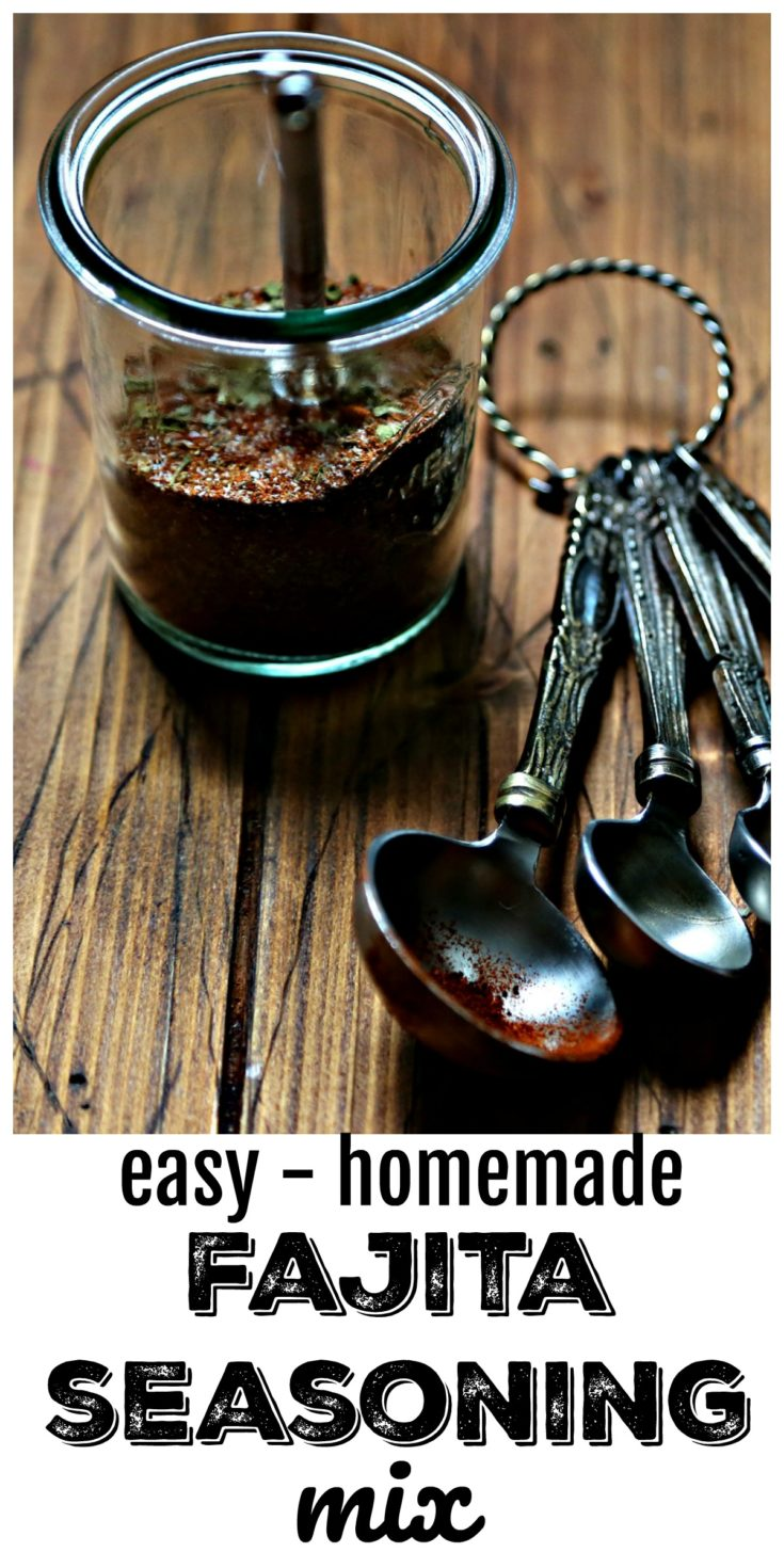 Quick and easy homemade fajita seasoning mix #fajita #fajitas #spiceblend #homeadeseasoning #spices