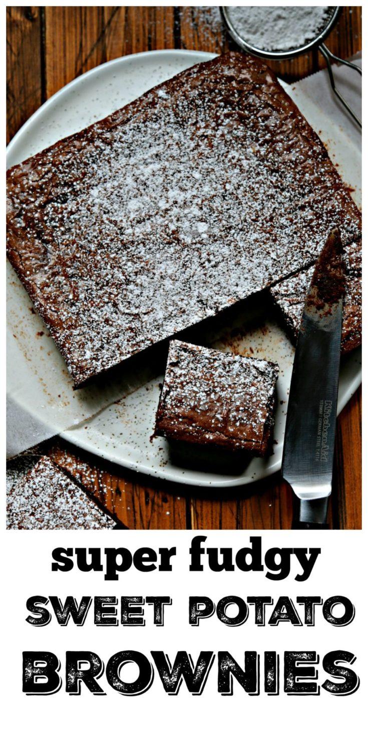 Rich and fudge sweet potato brownies #brownies #chocolate #easyrecipe #dessert #sweetpotato