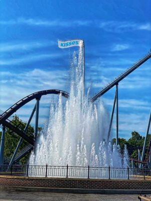 Fountain inside Hershey Park