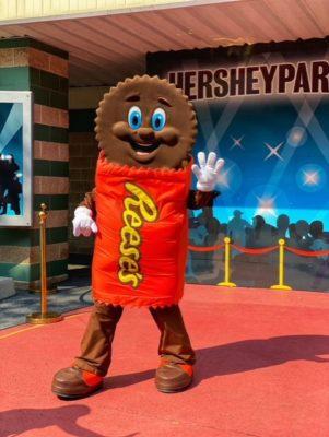 Reeses character at Hershey Park